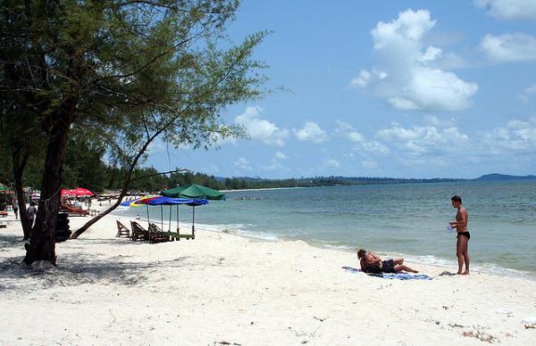 Am Strand von Sihanoukville