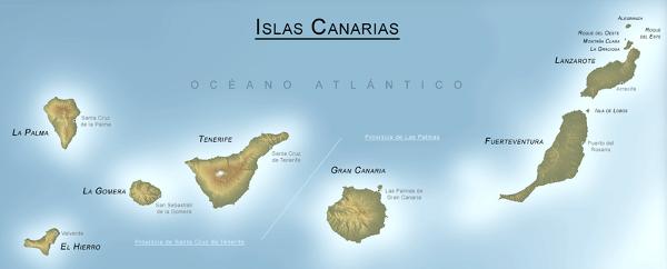 Kanarische Inseln - Landkarte