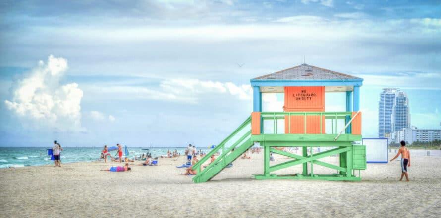Rettungsschwimmer Station, Florida (USA)