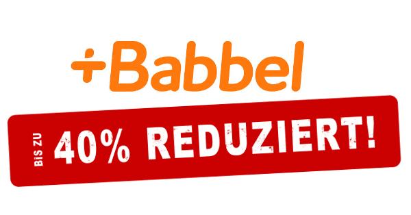 Bis zu 40% der Babbel Kosten sparen!