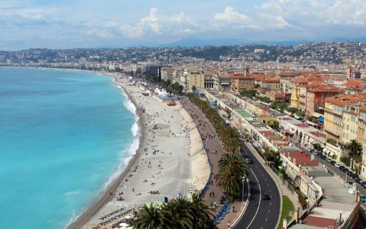 Der Stadtstrand von Nizza