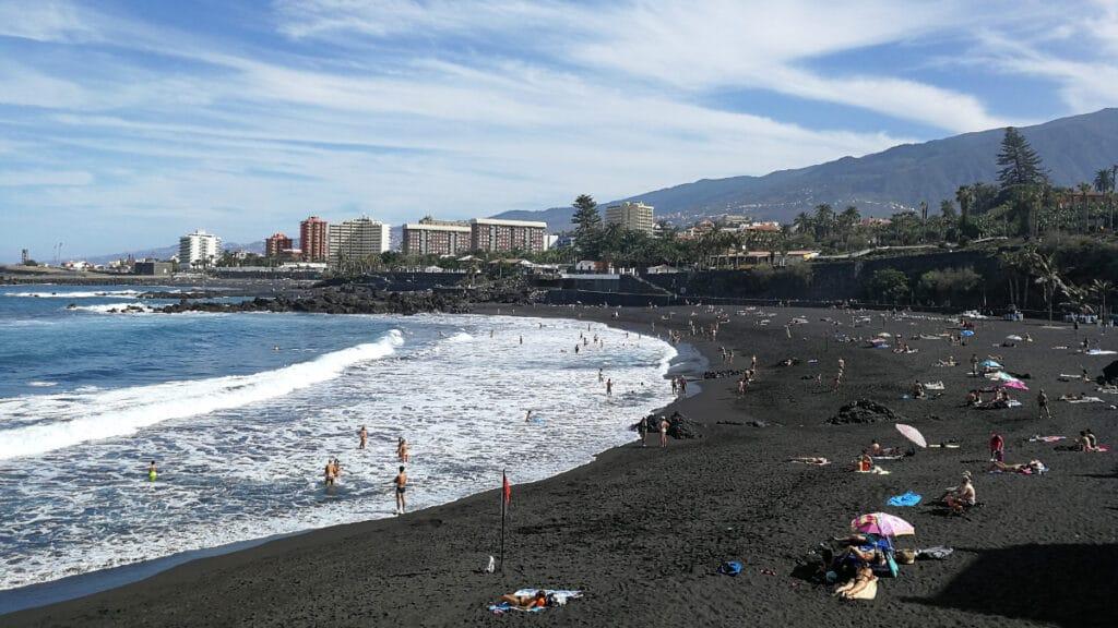 Der Strand von Puerto de la Cruz