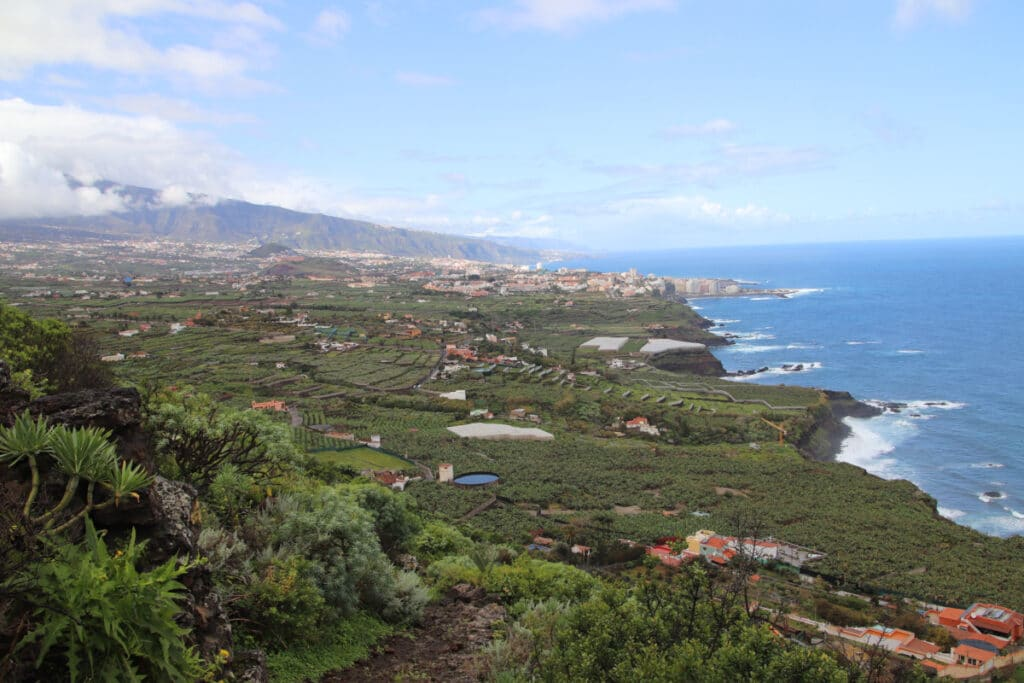 Orotavatal mit Blick auf Puerto de La Cruz