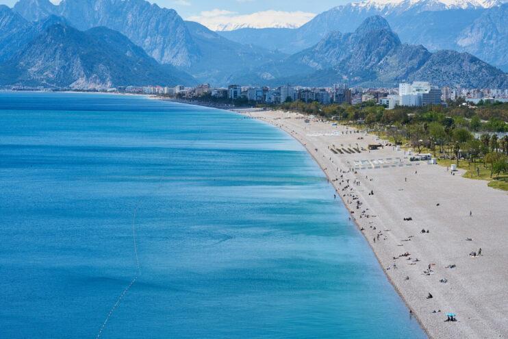 Am Strand in Antalya / Türkei